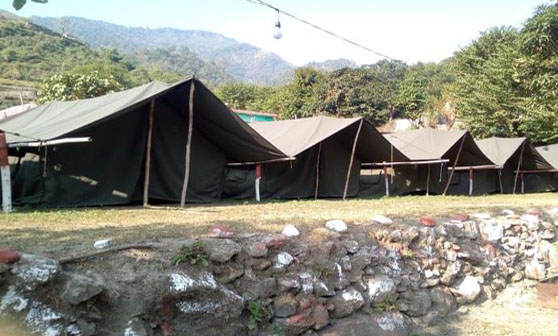 Camping Near river in Rishikesh